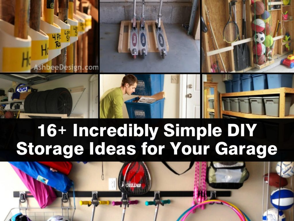 16 Incredibly Simple Diy Storage Ideas For Your Garage: easy diy storage ideas for small homes