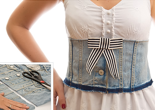 21 cute and clever things to make from old jeans for Ripped jeans selber machen