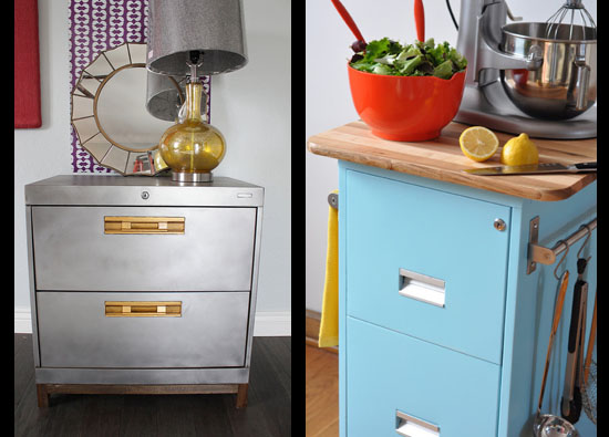 19 Insanely Clever Ways To Upcycle Old Furniture: upcycled metal filing cabinet