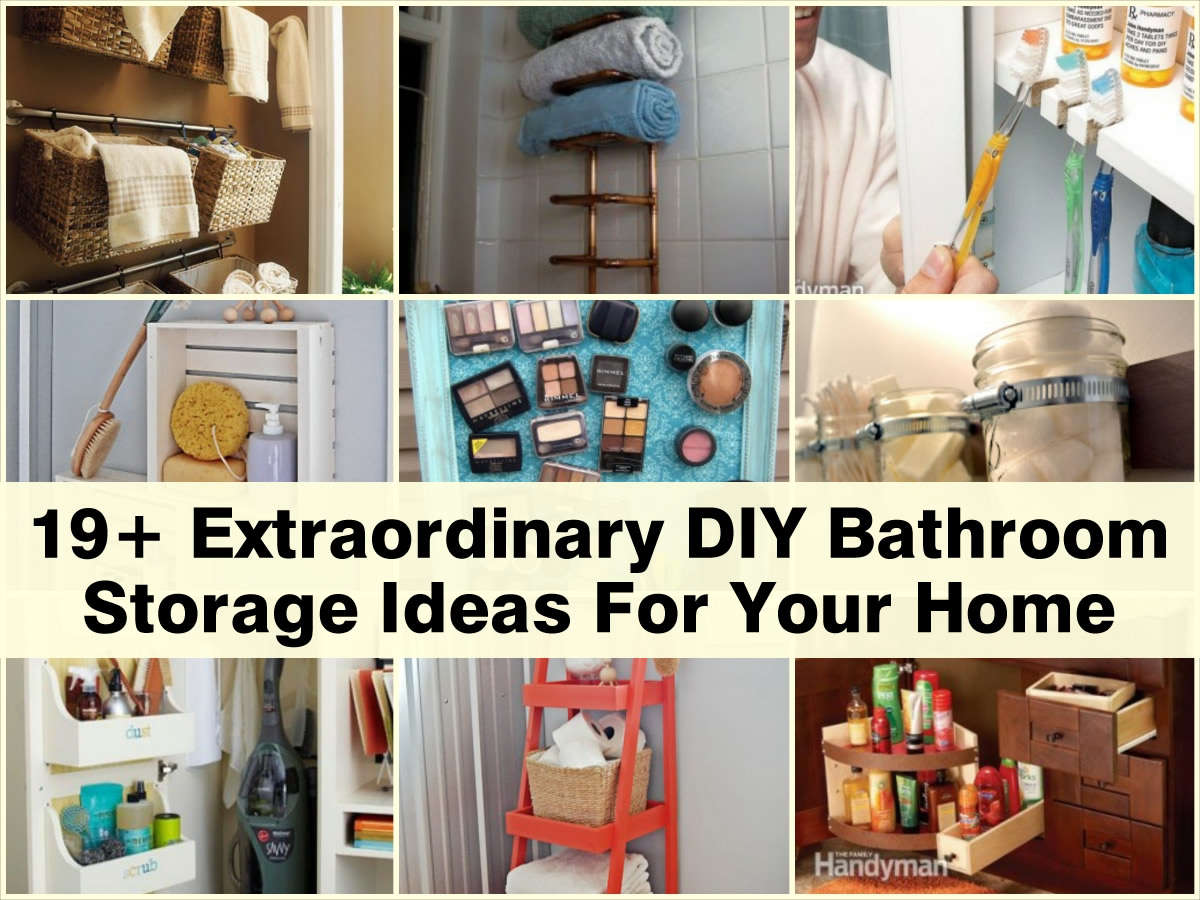 19 extraordinary diy bathroom storage ideas for your home for Bathroom storage ideas