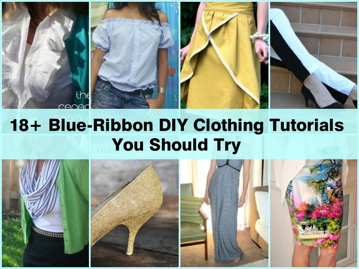 Diy clothes tutorials