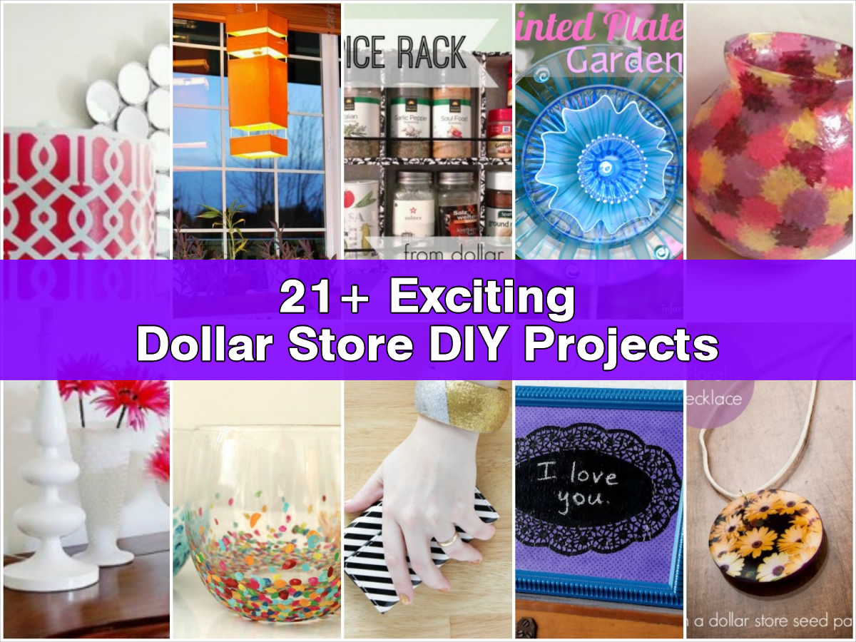 21 exciting dollar store diy projects for Diy handicraft items