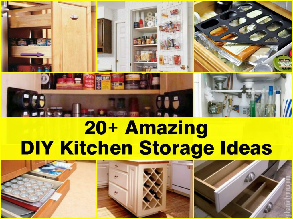20 amazing diy kitchen storage ideas for Kitchen storage ideas