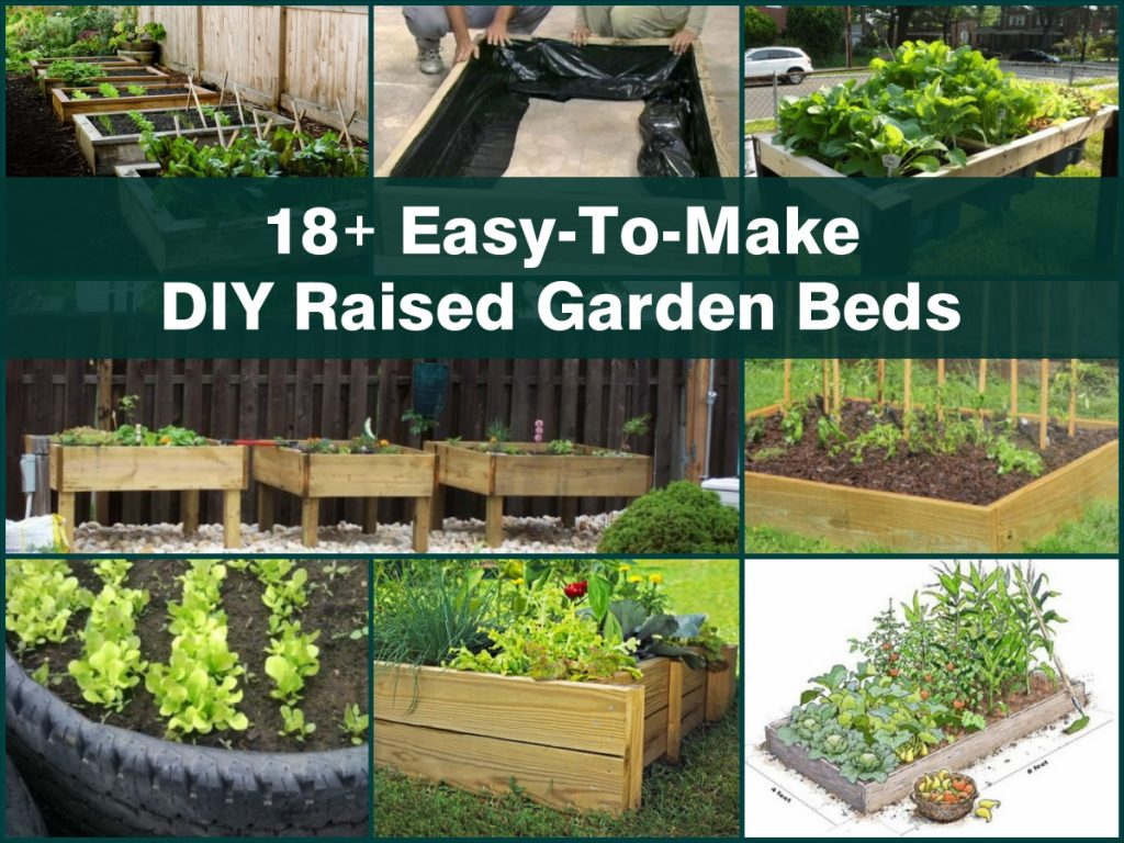18 easy to make diy raised garden beds Raised garden beds