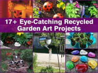 17+ Eye-Catching Recycled Garden Art Projects
